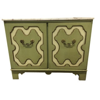 Vintage Green & White Cabinet