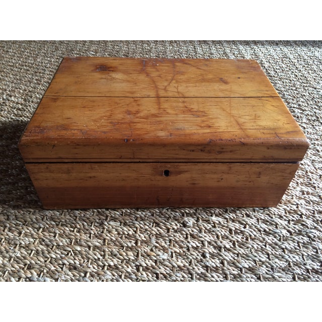 Image of Rustic Wooden Storage Box