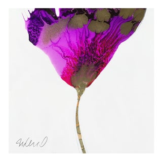 "Original Poured Resin ""Purple Transition"" Botanical"