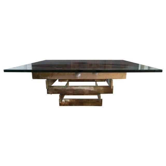 Image of Paul Mayen Brass Stacked Coffee Table
