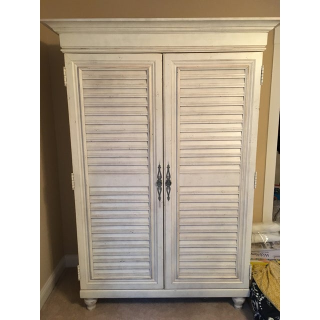 Tommy Bahama Louvered Door Armoire - Image 2 of 4
