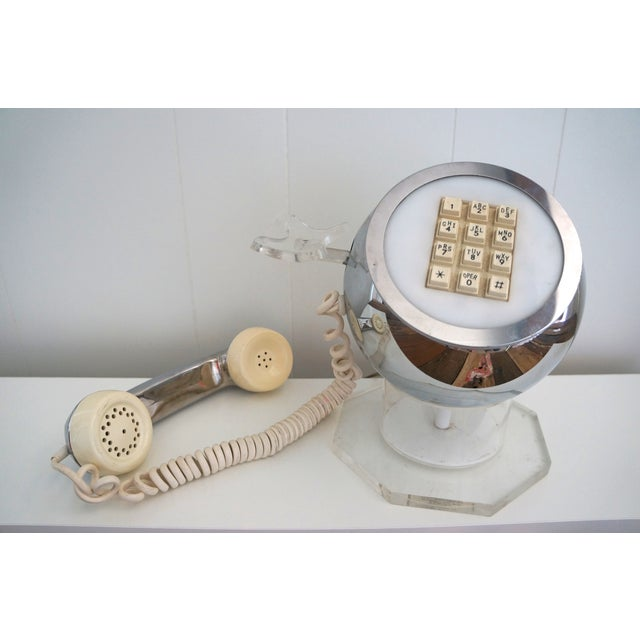 Image of Lucite & Chrome Ball Telephone