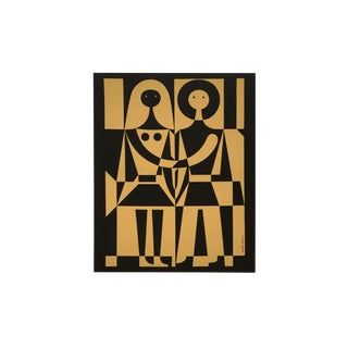 "Alexander Girard Man Woman ""Environmental Enrichment Panel"" Fabric Art, 1971"