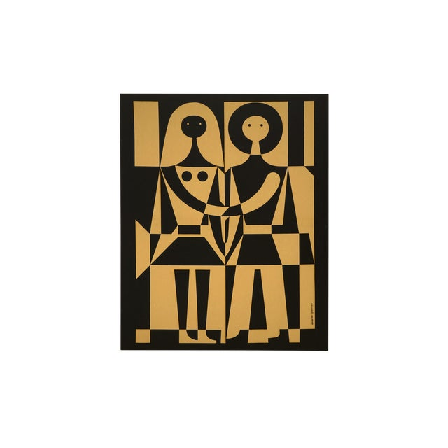 "Alexander Girard Man Woman ""Environmental Enrichment Panel"" Fabric Art, 1971 - Image 1 of 6"