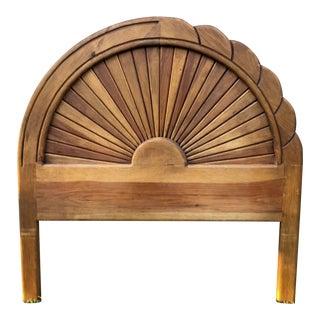 Carved Wood Full Sized Headboard