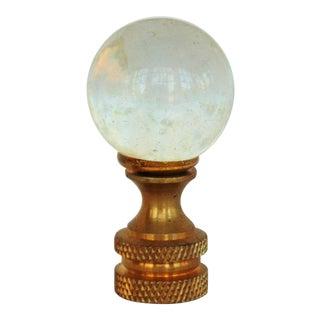 Clear Glass Ball Lamp Finial