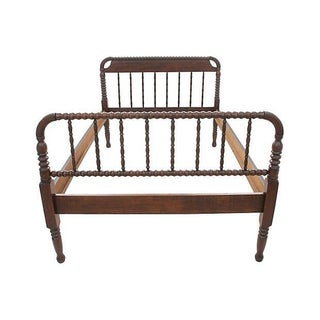 Mahogany Spool Twin Bed Frame, Circa 1860