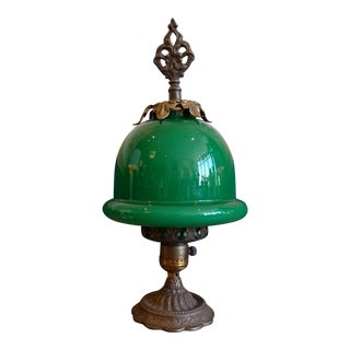 Petit Green Glass Shade Accent Lamp