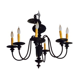 Antique Gothic Black Chandelier