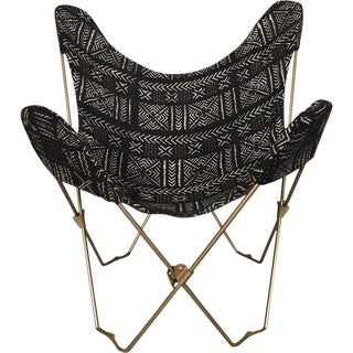 Boho African Mudcloth Butterfly Chair