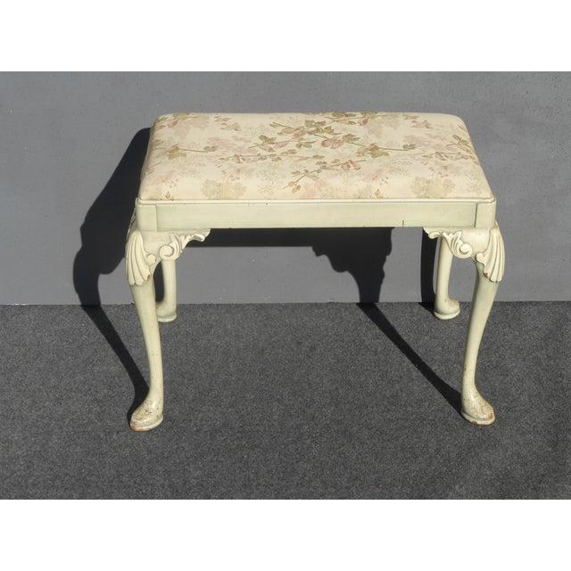 Vintage Queen Anne Piano Vanity Bench - Image 2 of 11