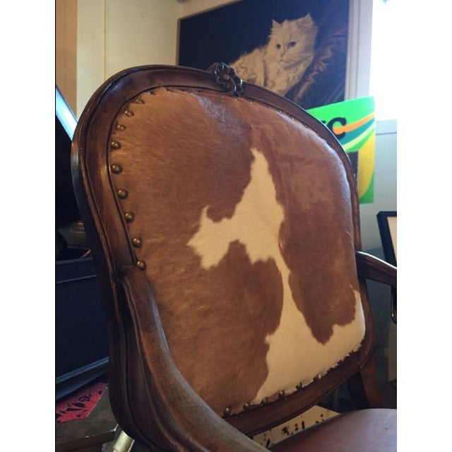 1930s Re-Upholstered Cowhide Leather Chairs - Image 8 of 11