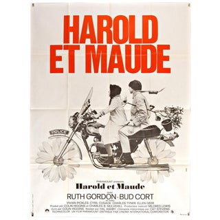 "Vintage 1972 ""Harold and Maude"" French Film Poster"