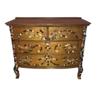 Antique Butterfly Button Dresser