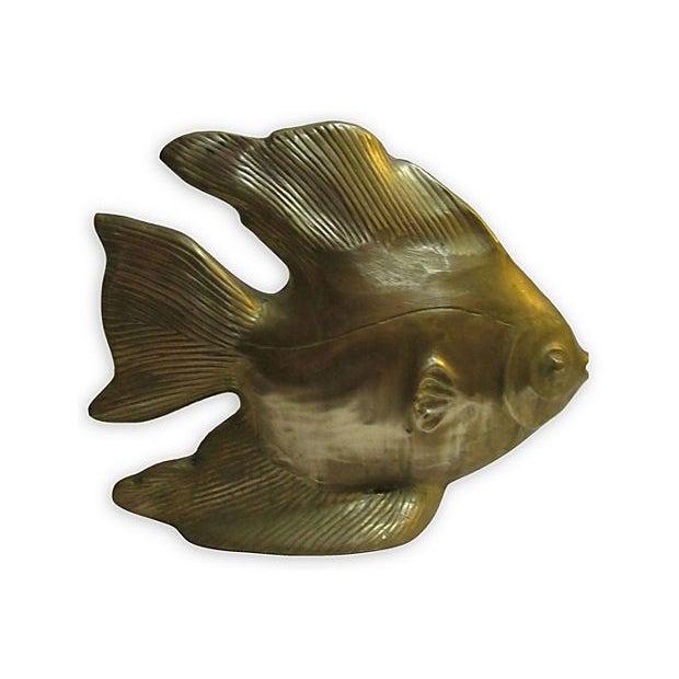 Large Brass Fish - Image 2 of 4