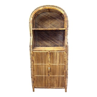 Wicker and Rattan Peacock Cabinet
