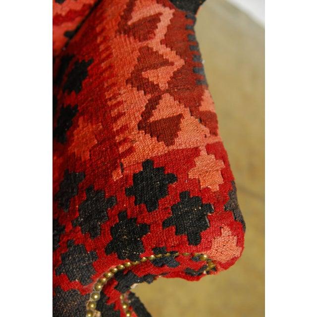 Kilim Wingback Armchair | Chairish