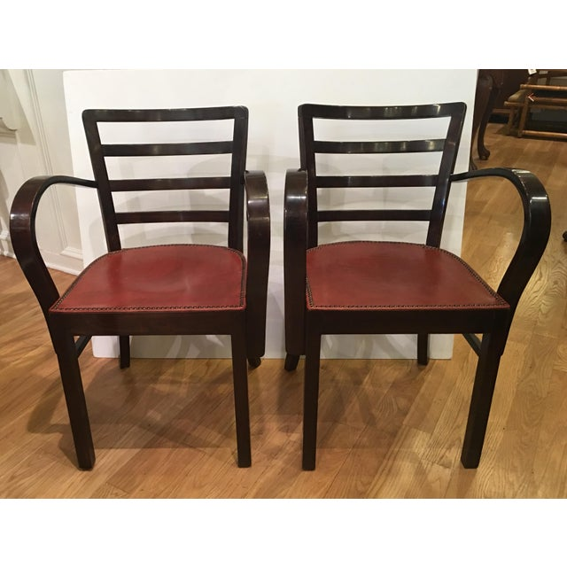 Hungarian Art Deco Armchairs - A Pair - Image 2 of 7