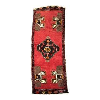 Vintage Pink Oushak Turkish Rug - 1′9″ × 4′4″