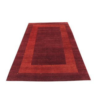 Hand Made Gabbeh Design Rug - - 6′3″ × 9′5″