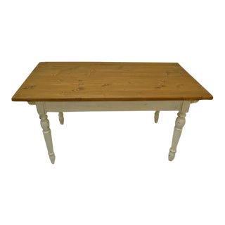 Vintage Pine and Beech Farmhouse Table