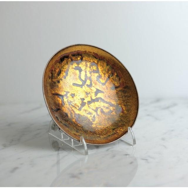 Anne-Grete Ploen Norway Enamel on Copper Dish - Image 5 of 6