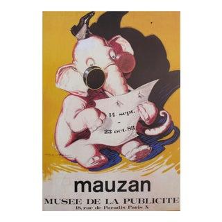 1983 Mauzan Exhibition Poster, Elephant