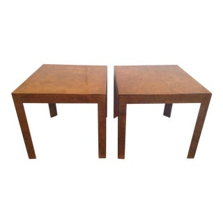 Vintage Hay Co. Italian Burl Wood Side Tables - A Pair