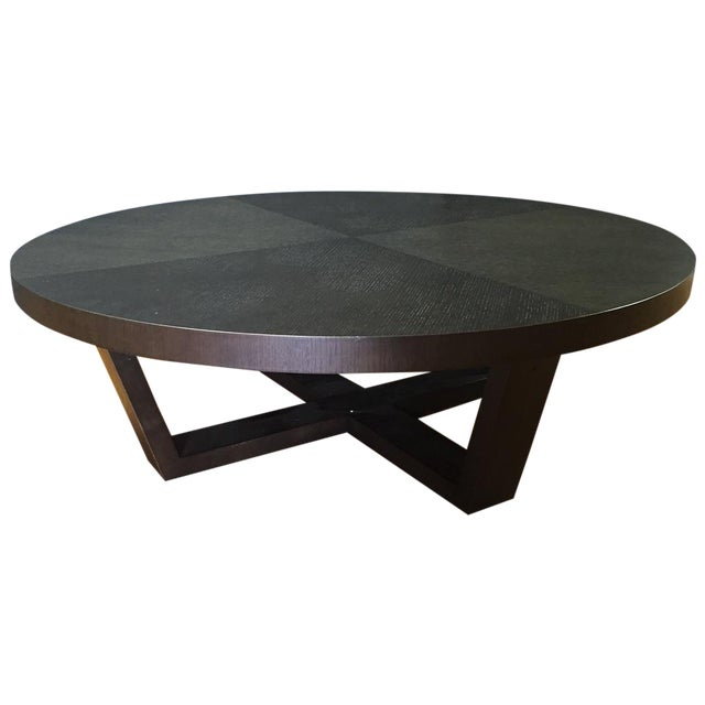 West elm espresso coffee table chairish for West elm coffee table sale