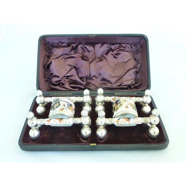 Antique Napkin Ring & Knife Rest Set - Image 3 of 10