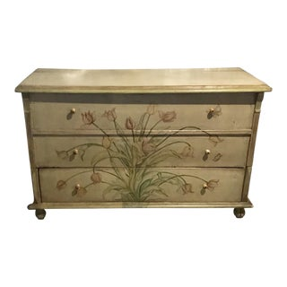 European Hand Painted Blanket Chest