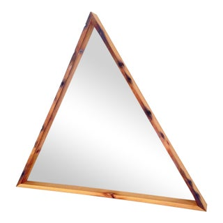 Norman Leigh Design Triangular Wooden Mirror