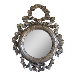 Spanish Carved Silver Gilt Mirror, circa 1930s