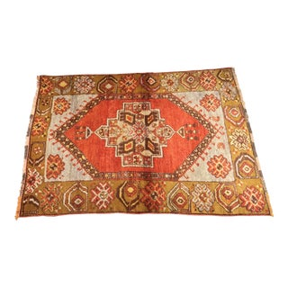"""Bellwether Rugs Vintage Turkish Oushak Small Area Rug - 3'1"""" x 4'6"""""""