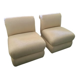 A. Rudin Slipper Chairs - A Pair