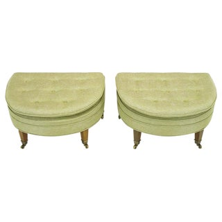 Pair of Demilune Ottomans by Kittinger