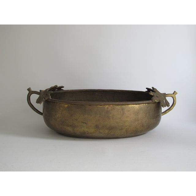 Image of Brass Holly Leaf Tureen