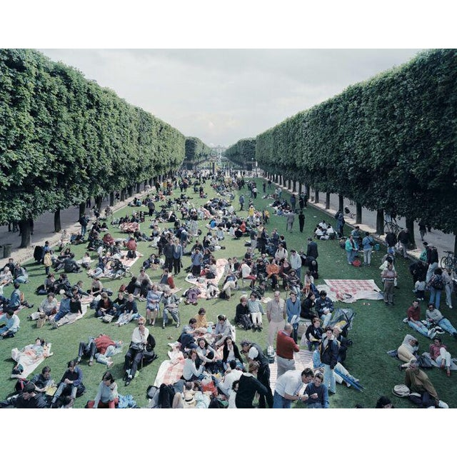 "26 Picnic Allee from ""A Portfolio of Landscapes with Figures"" color photography print by Massimo Vitali - Image 3 of 3"