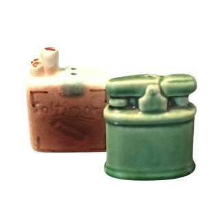 Mid-Century Lighter Salt & Pepper Shakers - A Pair