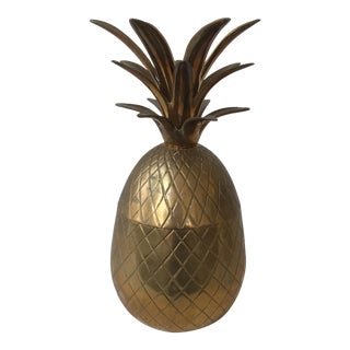 Vintage Brass Lidded Pineapple