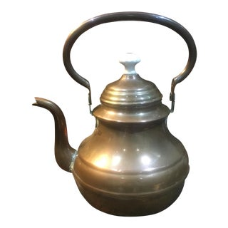 Antique Country French Copper Tea Kettle Pot