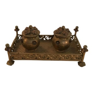 Bronze French Inkwell