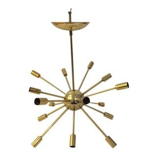 Vintage Mid-Century Brass Sputnik Chandelier
