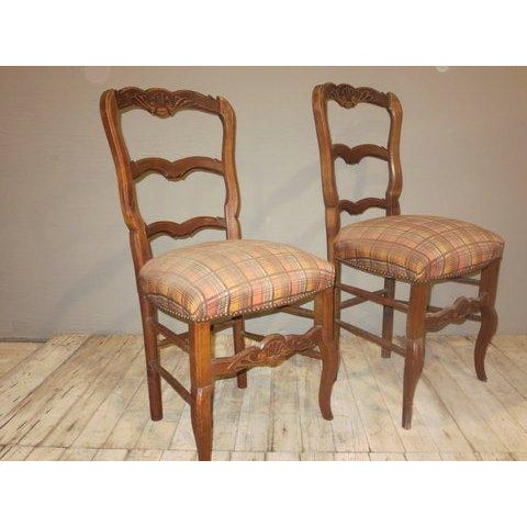 Antique 1900's French Country Side Chairs - Pair - Image 5 of 8
