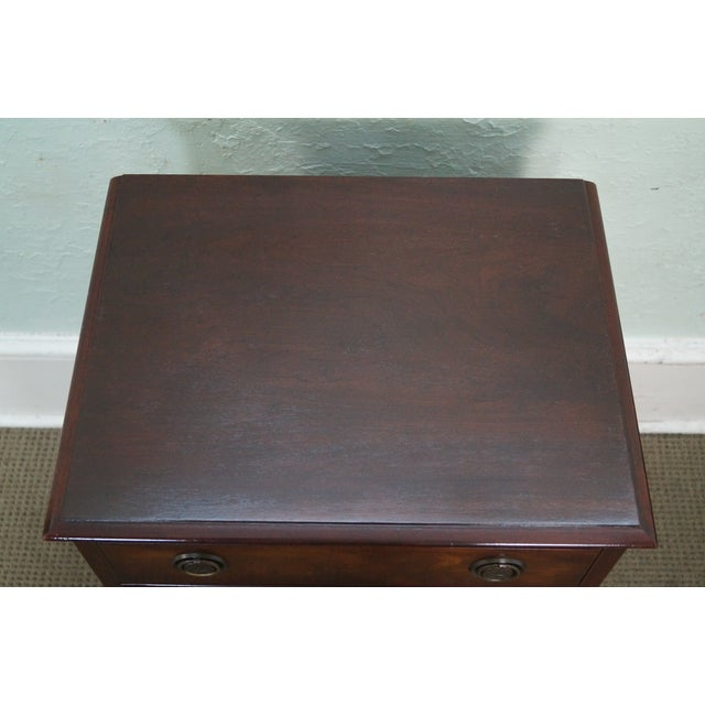 1940s Chippendale Mahogany Nightstands - Pair - Image 2 of 10