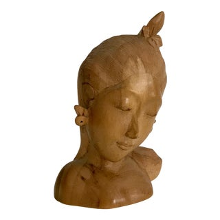 Vintage Balinese Wood Sculpture