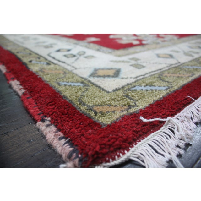 "Apadana - New Red Caucasian Rug - 6'7"" x 9'9"" - Image 3 of 3"