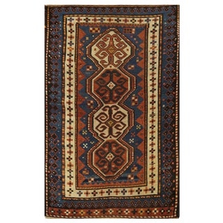 Antique Kazak Rug - 3.1 x 5.2