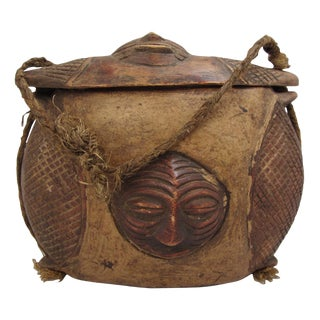 African Kuba Tukula Sculptural Box Purse