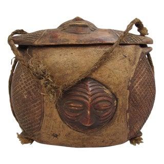 African Kuba Tukula Sculptural Box Purse